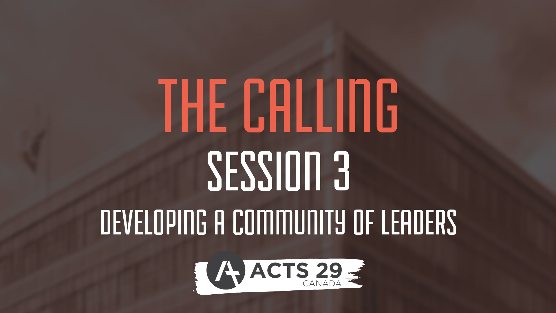 The Calling - Session 3